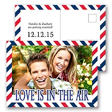 Flying High - Save the Date Postcard