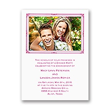 Photo Frame - Engagement Party Invitation