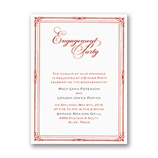 Classic Frame - Engagement Party Invitation