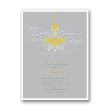 Elegant Chandelier - Engagement Party Invitation