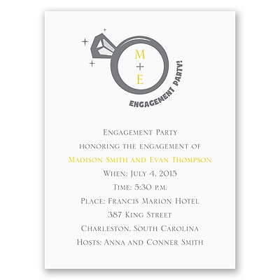 Big Bling - Engagement Party Invitation