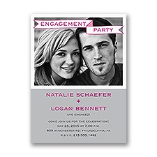 Bold Banner - Engagement Party Invitation