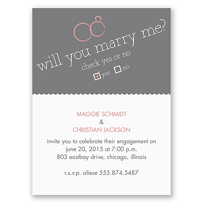 Will You - Engagement Party Invitation