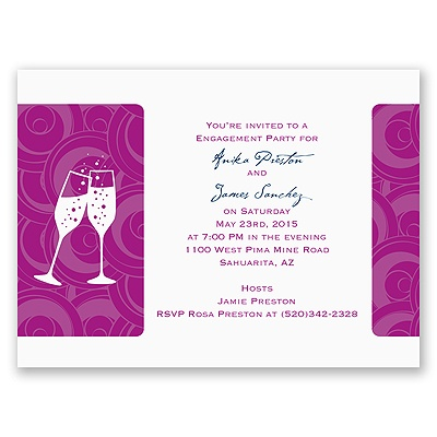 Bubbly - Engagement Party Invitation