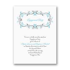 Dainty Swirls - Engagement Party Invitation