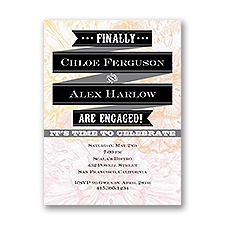 Finally Engaged - Engagement Party Invitation