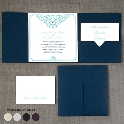 Flourishing Border - Pocket Invitation