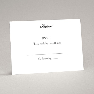 Bright White - Response Card and Envelope - Flat Printed