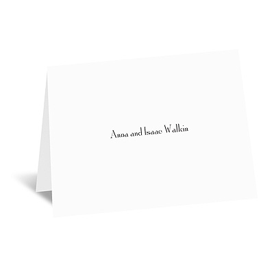 Bright White - Thank You Card and Envelope - Flat Printed