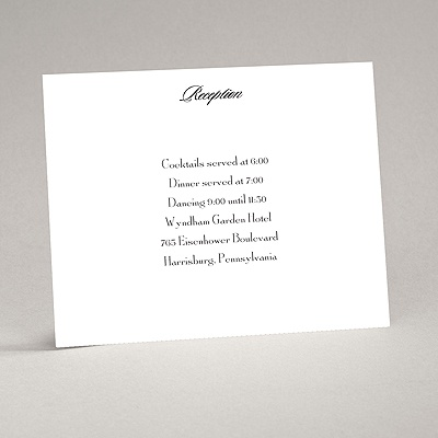 Bright White - Reception Card - Flat Printed