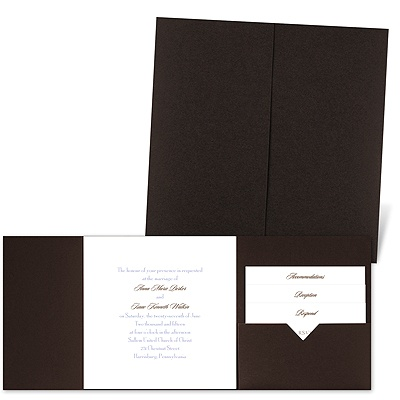 Classic Message - Brown Shimmer - Pocket Invitation
