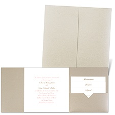 Classic Message - Gold Shimmer - Pocket Invitation