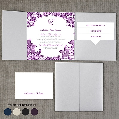 Lavish Lace - Pocket Invitation