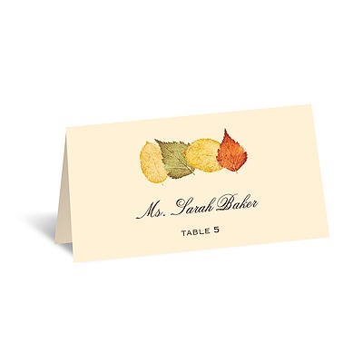 Touch of Autumn - Escort Card
