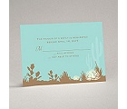 Desert Blooms - Aqua - Response Card and Envelope