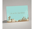 Desert Blooms - Aqua - Thank You Card and Envelope