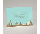 Desert Blooms - Aqua - Reception Card