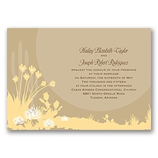 Desert Blooms - Champagne - Invitation