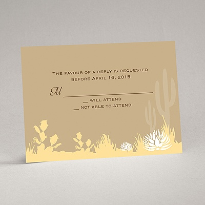 Desert Blooms - Champagne - Response Card and Envelope