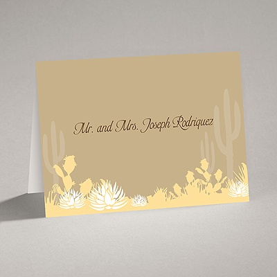 Desert Blooms - Champagne - Thank You Card and Envelope