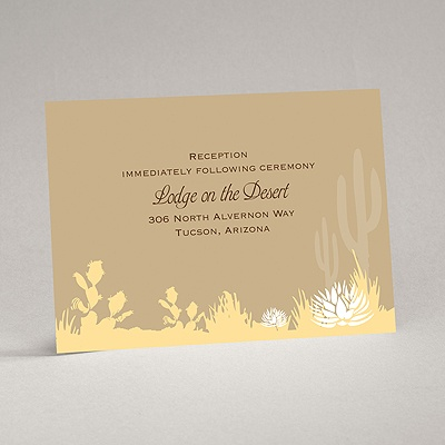 Desert Blooms - Champagne - Reception Card