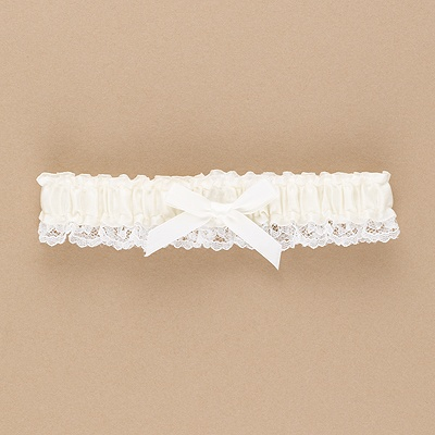 Ecru Wedding Garter