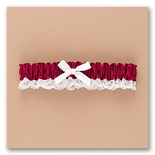 Burgundy Wedding Garter