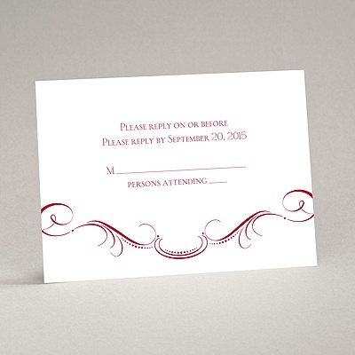 Delicate Flourishes - Response Card and Envelope