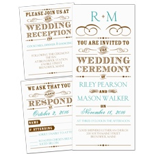 Vintage Type - 3 for 1 Invitation