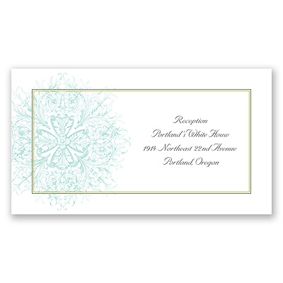 Hip Flourishes - Fresh - Reception Card