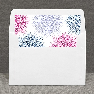 Hip Flourishes - Berry - Custom Envelope Liner