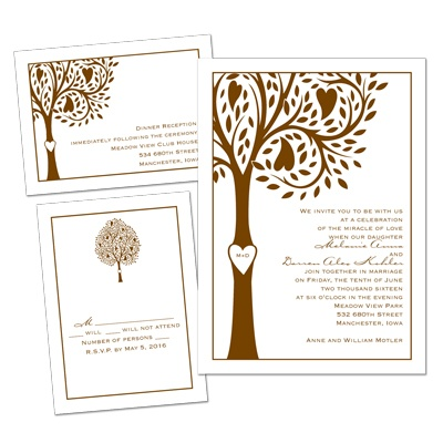Tree of Love - 3 for 1 Invitation