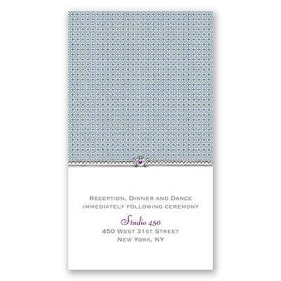 Hip Crest - Berry - Reception Card