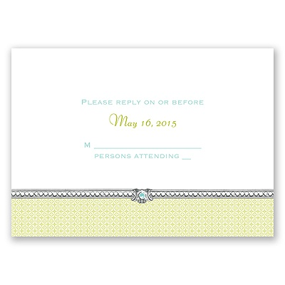 Hip Crest - Fresh - Response Card and Envelope