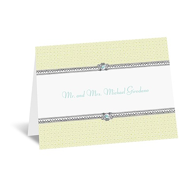 Hip Crest - Fresh - Thank You Card and Envelope