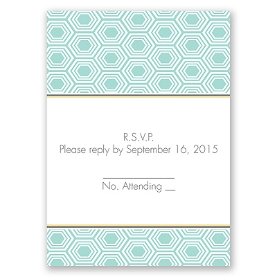 Hip Geometric - Fresh - Response Card and Envelope