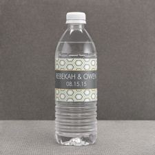 Hip Geometric - Fresh - Water Bottle Label