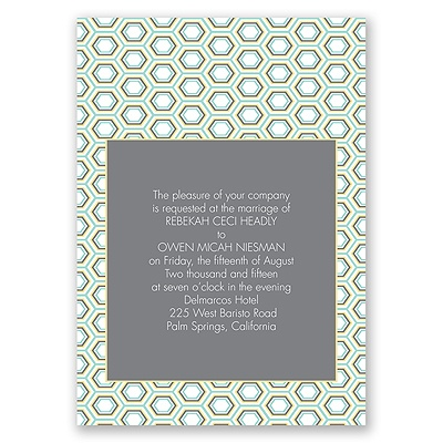 Hip Geometric - Fresh - Invitation