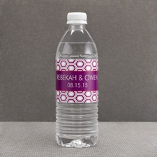 Hip Geometric - Berry - Water Bottle Label