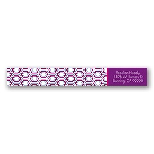 Hip Geometric - Berry - Address Label