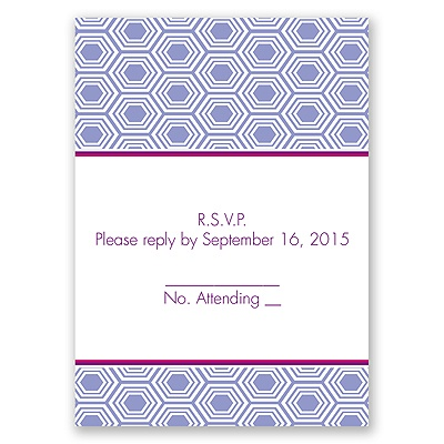 Hip Geometric - Berry - Response Card and Envelope
