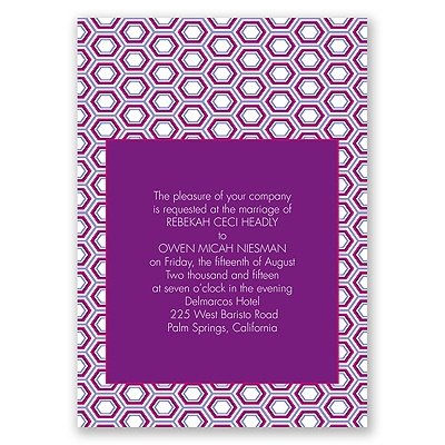 Hip Geometric - Berry - Invitation