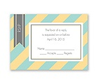 Hip Stripes - Fresh - Response Card and Envelope