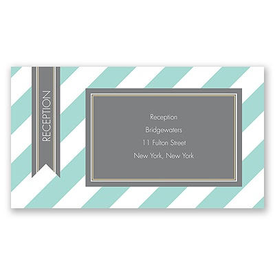 Hip Stripes - Fresh - Reception Card