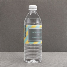 Hip Stripes - Fresh - Water Bottle Label