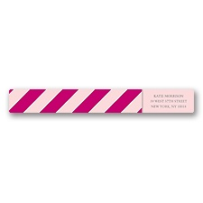 Hip Stripes - Berry - Address Label