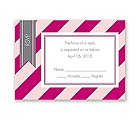 Hip Stripes - Berry - Response Card and Envelope
