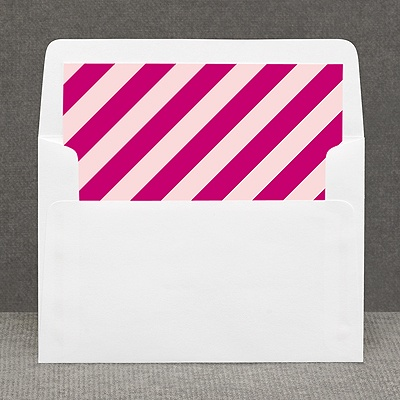 Hip Stripes - Berry - Custom Envelope Liner