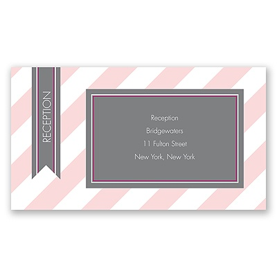 Hip Stripes - Berry - Reception Card