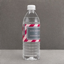 Hip Stripes - Berry - Water Bottle Label